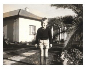 My first day at school -in 1958 - this was the house that was burnt down 2 years later