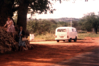 My Kombi on the way back from Zimbabwe